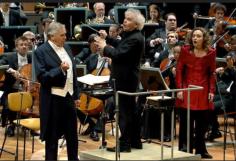 Foto: Berlinfilharmonikerne/Digital Concert Hall, Fra Die Walküre med Sir Simon Rattle, Evelyn Herlitzius, (Brünnhilde), Terje Stensvold (Wotan)