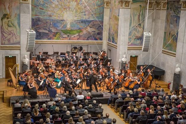 Norsk Tonekunstnersamfund: Konsert i Universitetets Aula